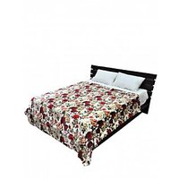 Floral Print Double Bed A/C Blanket Multicolor