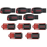 SanDisk Cruzer Blade 16GB Pen Drive With SanDisk Cruzer Switch 8GB (Combo Of 5)