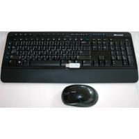 Microsoft Wireless Desktop 3000 USB Keyboard Combo Blue Track