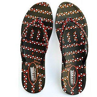 STEEL Women's PU Slipper Black-Red (PL-081)