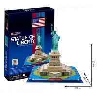3D Puzzle Cubicfun STATUE OF LIBERTY World's Great Architecture