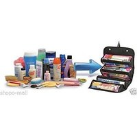 Genuine Travel Cosmetic Bag 4 In 1 Roll-N-Go Toiletry Organized