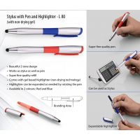 L80 - Stylus Pen With Non-drying Gel Highlighter