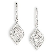 Rhombus Diamond Studded Gold Earrings By Uppergirdle EE-2742