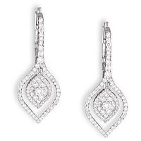 Rhombus Diamond Studded Gold Earrings By Uppergirdle EE-2745
