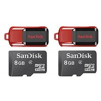 SanDisk Cruzer Switch 8GB Pen Drive With SanDisk 8GB Memory Card (Combo Of 2)