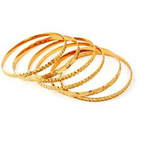 Pari Set Of 6 Gold Plated Classic Bangles