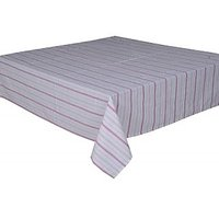 Dyed Striped Tablecloth In Pink Color