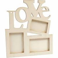 "Collage Of 3 Frame And The Word ""LOVE"""