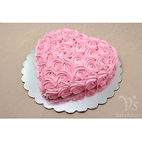 Chocolate Pink Rose Cake