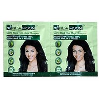 New Moon  Instant Black Shampoo Hair Dye With Conditioner ( 15 Ml X 20 Sachets )