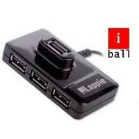 IBall Lappie Piano 423 High Speed 4 Port 2.0 USB Hub