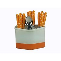 ANNI POLKA DOTTED 24 PC KNIFE AND FORK SET - 73302994