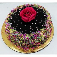 Chocolate Sprinkles Cake Half Kg