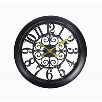"Anni 17"" Dia Analog Wall Clock With Antique Finish"