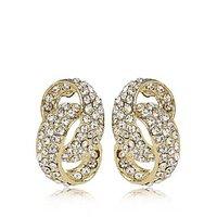Rhine Stone Chandelier Earring By Utsokt 1ON1E627
