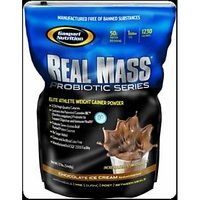 Gaspari Nutrition Real Mass Probiotic Series, 12 Lbs-Chocolate Ice