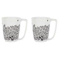 Tea / Coffee Mug - Flower Mugs - Porcelain Mug Set - 2 Pc - By Azure