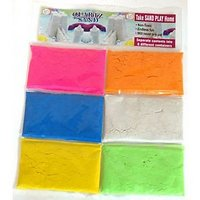 Multi Colour Quartz Sand + Sand Tool & Tray 150 Gms X 6 Colours = 900 Gms Pack