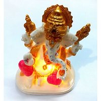 Ganesh, Ganesha Statue With Flashing LED Religious Home Decor Novelty Gifts