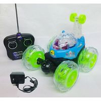 Rechargeable RC Stunt Car Radio Control Toy With LED Lights On Wheels