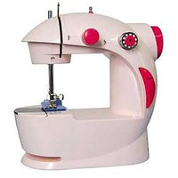 Sewing Home Crafts With 4-in-1 Mini Sewing Machine