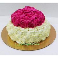 Swirl Roses Cake 2 Tier Cake 1.5 Kg.