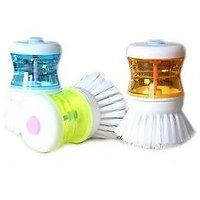 Dish Washer - Cleaning Brush With Soap Dispenser For Kitchen,Washroom, Sink Etc
