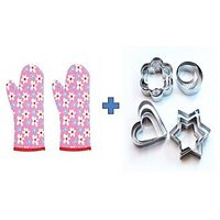 Buy Microwave Oven Gloves 2PCs & Get 12pcs Cookie Cutters Free