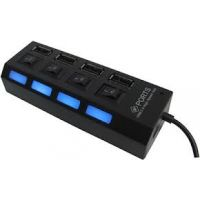 Terabyte High-speed 4 Ports USB 2.0 Hub With Independent Switch
