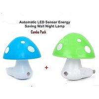 2 Pcs Set - Auto Night Led Light Lamp With Sensor