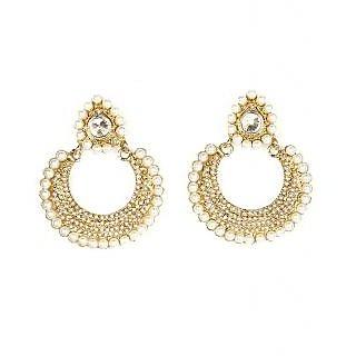 Kriaa Polka Earrings with Pearl