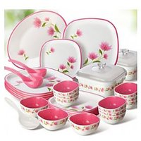 Nayasa 32 Pcs Dinner Set- Pink