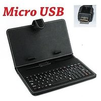 ClickAway 7 INCH MICRO USB KEYBOARD CASE COVER FOR TAB Tablet Aakash Ubislate 7ci 7c+