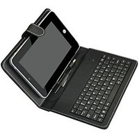 CLickAway 7 INCH MINI USB KEYBOARD CASE COVER FOR TAB Tablet Bsnl Penta IS701C,Micromax P300 Funbook ,HCL ME X1 U1 & Other 7 INCH'S TABS