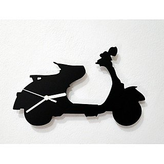 Vespa Scooter Silhouette  Wall Clock