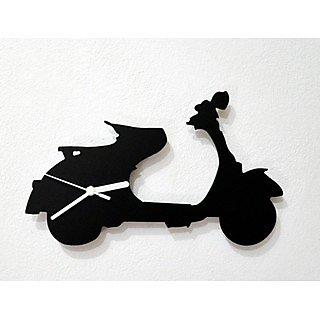 Vespa Scooter Silhouette Wall Clock
