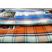 BATH TOWEL--COTTON TOWEL--A Set Of Two South Indian Towels-- Size 30 X 60 - 73586488
