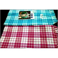 BATH TOWEL--COTTON TOWEL--A Set Of Two South Indian Towels-- Size 30 X 60 - 73594466