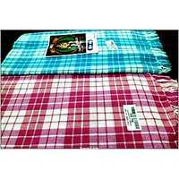 BATH TOWEL--COTTON TOWEL--A Set Of Two South Indian Towels-- Size 30 X 60 - 73594586