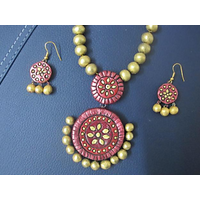 Women's Terracotta Jewellery Necklace