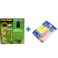 Buy Ben10 Brick Game & Get Cube Puzzle  Game Free