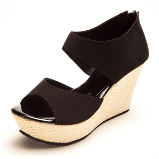 Marc Loire Ladies Causal Platforms Wedge Faux Leather In Black