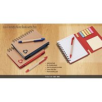 PUNYA Eco Friendly Diary With Stick-ons ,memo Pad Pen ( Single Diary)2 Colour