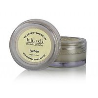 Khadi Natural Lychee Lip Balm With Beeswax And Shea Butter 10 Gm