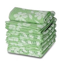 JBG Home Store Floral  Design 100% Cotton FaceTowels ( Set Of 12)