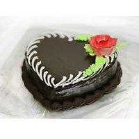 Heart Shape Chocolate Truffle Cake - 1/2 Kg