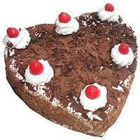 Heart Shape Black Forest Cake - 1 Kg
