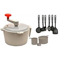 Ni Marketing Combo Of Dough Maker & Atta Maker Mixer 1 Pcs With Kitchen Tool Set Of 6 Pc.