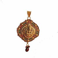 Traditional  Temple  Jewelry Laxmi Pendant Online - 73475406